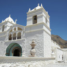 Picture - Santa Anna church (3-400 years old) in Maco Village in Colca Canyon.
