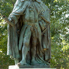 Picture - A statue of Lord Botetourt at the College of William & Mary in Williamsburg.