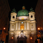 Picture - Saint Peter's Church (Peterskirche) at night, Vienna.