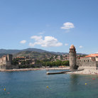 Picture - View of the water tower at Collioure.