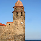 Picture - The old fort on the waterfront at Collioure.
