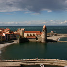 Picture - Castle on the waterfront in Collioure.
