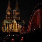 Picture - St Peter & St Mary Cathedral in Cologne at night.