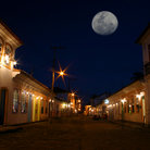 Picture - Night view of the historical city center of Parati.