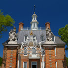 Picture - Ornate entrance to the Governor's Mansion in Colonial Williamsburg.