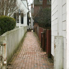 Picture - Old historic street in Colonial Williamsburg.