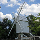 Picture - Grist mill/ windmill at Colonial Williamsburg, Virginia.
