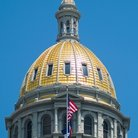 Picture - Gold Dome on the Denver State Capitol.