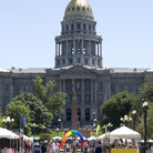 Picture - Balloons and Colorado State Capitol, Denver.