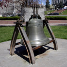 Picture - Bell in park near Colorado State Capitol, Denver.