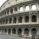 Picture - The Colosseum - the Flavian amphitheatre opened in AD 80 in Rome.
