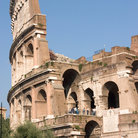 Picture - Detail of the Colosseum in Rome.