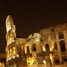 Picture - Rome Colosseum at night.