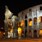 Picture - Colosseum at night in Rome.