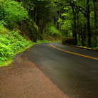 Picture - Historic Columbia River Highway along the Columbia River Gorge in Oregon.