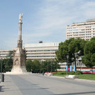Picture - Plaza Colon and Columbus Monument in Madrid.