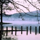 Picture - Mist on Coniston Water in the Lake District of Cumbria.