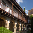 Picture - Arches and balconies of the Las Duenas convent in Salamanca.