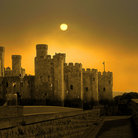Picture - Sun over the Conwy Castle.