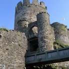 Picture - Bridge to the old Conwy Castle.