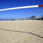 Picture - Soccer net on the beach in Copacabana.
