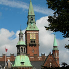 Picture - Clocktower of City Hall, Kobenhavn.