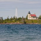 Picture - Copper Harbor lighthouse.