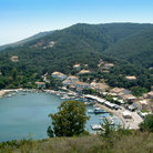 Picture - Overview of Agios Stephanos on Corfu.