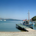 Picture - Harbor at Agios Stephanos on Corfu.