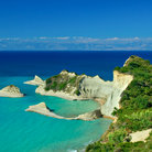 Picture - Cape Drastis and offshore islands of Corfu.