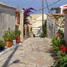Picture - Street in the town of Afionas on Corfu.