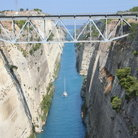 Picture - Corinth Canal was constructed between 1882 and 1893.