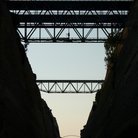 Picture - Bridges over the Corinth Canal.