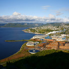 Picture - View over the town and mill in Corner Brook.
