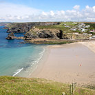 Picture - View over the beach at Porteath in Cornwall.