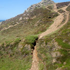 Picture - Path near Chapel Porth, Cornwall.