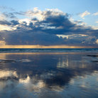 Picture - Sunset off the Gwithian sands, Cornwall.