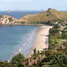Picture - A beach on a Coromandel Peninsula.