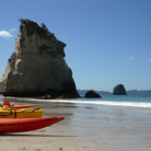 Picture - Cathedral Cove on the Coromandel Peninsula.