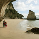 Picture - Beach at Cathedral Cove on the Coromandel Peninsula.
