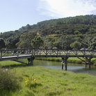 Picture - Bridge over a stream on the Coromandel Peninsula.