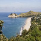 Picture - View over Hahei Beach on the Coromandel Peninsula.