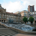 Picture - Stairs and fountain in front of the Council House in Birmingham.