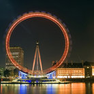 Picture - London Eye and County Hall in London at night.