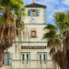 Picture - View of the beautiful old courthouse building, now the Philipsburg Town Hall.