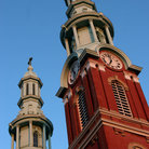 Picture - Twin Steeples in Covington, Kentucky.