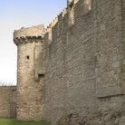 Picture - Stone wall of Craigmillar Castle.