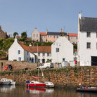 Picture - View of Crail harbor.