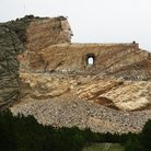 Picture - The stone carving of Crazy Horse National Monument.