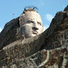 Picture - The stone face at Crazy Horse National Monument.